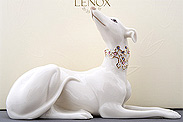 Collectible porcelain figurines: greyhounds by Lenox